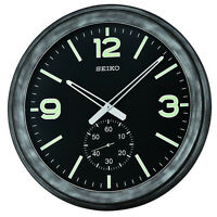 Seiko Japanese Analog Display Antique Black Case Quartz Wall Clock Qxa627klh