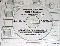 Hp Hewlett Packard 8590e Service Manual & Clip (schematics) 2 Volumes