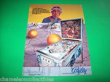 EMBRYON By Bally 1981 Original NOS PINBALL MACHINE Promo Sales Flyer NON STAMPED