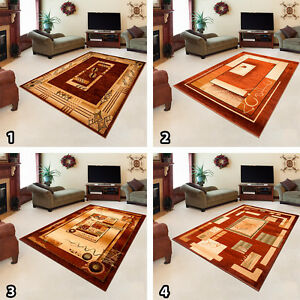 NEW-CARPETS-in-TRADITIONAL-STYLE-RUG-in-TRENDY-PATTERN-SIZES-S-XXL-BROWN-SALE