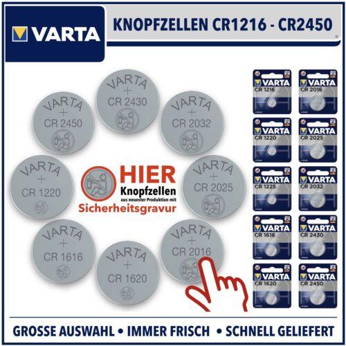 VARTA Knopfzelle CRxxx 3V CR2032 CR2025 CR1620 CR2016 CR1616 CR1220