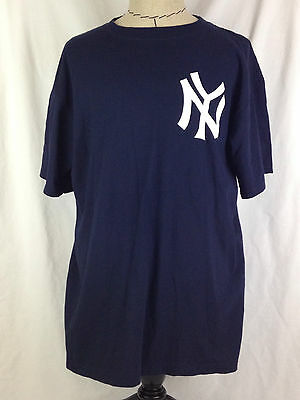 New York Yankees Babe Ruth Shirt Mens XL Size Majestic Blue #3 MLB Cooperstown