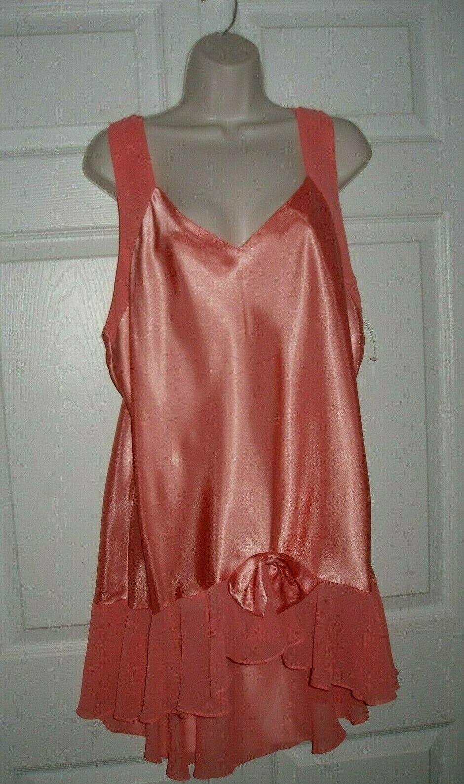Women's XL Night Gown Vintage Pastel Orange 1920's Flapper Look New