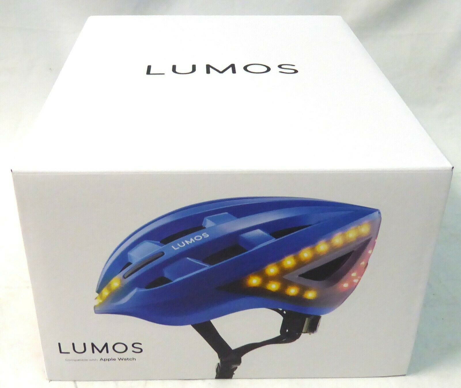 LumoS a casco con integrado y luces LED de señal de vuelta Stop Azul