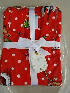 Pottery Barn Teen Flannel Pj Pajamas Christmas Grinch