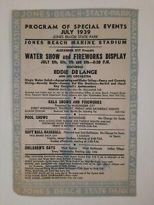 JONES BEACH STATE PARK stadium 1939 Program GAMES events LONG ISLAND NY local