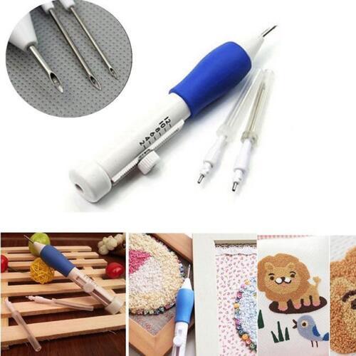 Embroidery Needle Pen Kit Craft Tool Thread Punch Magic DIY Knitting Supply 8C