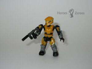 Halo Mega Bloks Series 6 UNSC Yellow Spartan Mark V with Silenced SMG