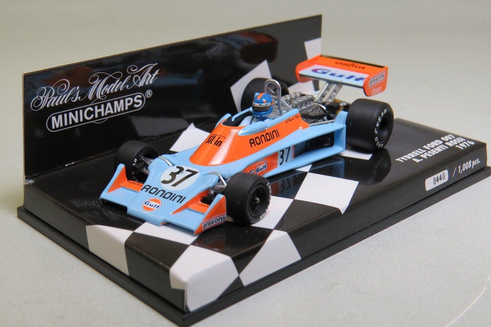 Tyrrell Ford 007 A. Pesenti Rossi 1976 (Gulf) Minichamps 400760037