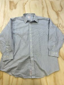 BROOKS BROTHERS 346 MEN SIZE 18 4/5 REGULAR FIT COLLARED BUTTON DOWN SHIRT EUC