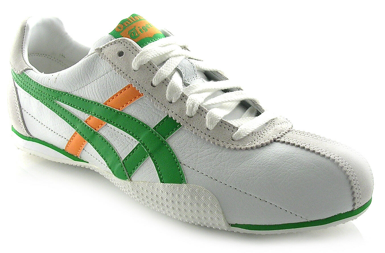 Onitsuka Tiger RUNSPARK, Weiß   Grün   Orange, Größes UK 4-12,   SALE