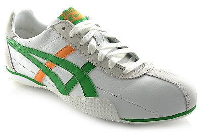 Onitsuka Tiger RUNSPARK RRP £69.99 SALE! White // Green // Orange Sizes UK 4-12