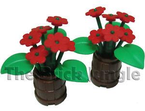 LEGO-Lush-Plants-in-Barrels-flowers-city-castle-train