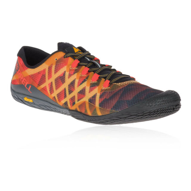 online store 41009 cdbe1 Merrell Mens Vapour Glove 3 Trail Running Shoes Trainers Sneakers Black  Orange