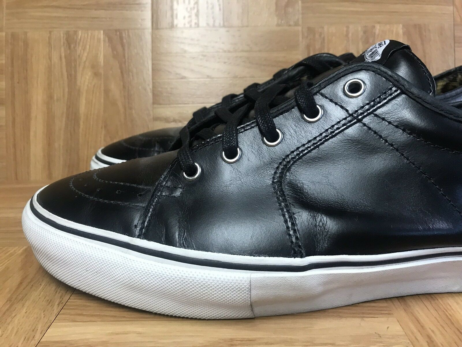 RARE RARE RARE VANS Syndicate AV Sk8-Low Ave Dill Black Leather FKING Awesome  13 Men's 241d6d