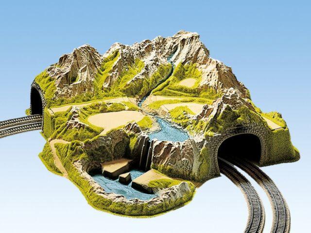 HS Noch 05200 Tunnel Eckberg 2-gleisig gebogen 73 x 70 cm in HO