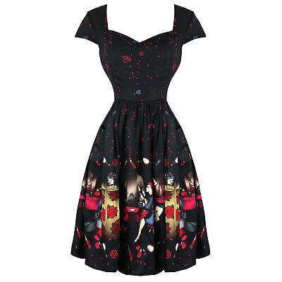 Aufrichtig Dancing Days Black Vanity Designer Retro Vintage 1950s Pinup Party Flared Dress Sparen Sie 50-70%