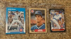 3-Jamie-Moyer-1987-Fleer-Glossy-Topps-Donruss-Rookie-Card-lot-RC-Cubs-Phillies