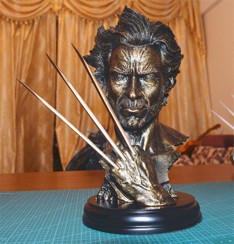 X-Men Wolverine Statuen Dekoration Hugh Jackman Bust Imitation Bronze Statue 30CM