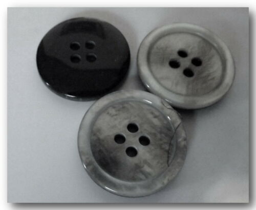 22 mm 2,2 cm Gray Button sewing neuf lot couture 4 BOUTONS  GRIS 4 trous
