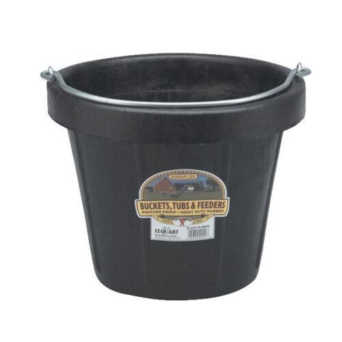 "12-Duraflex 12 Qt  13/"" D X 10 3//4/"" H Rubber Utility Water Feed Pail Bucket DF12"