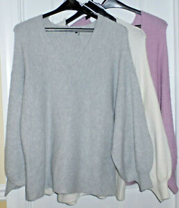 1-State-Women-039-s-Ribbed-Knit-Puff-Sleeve-V-Neck-Sweater-Various-MSRP-89-NWT
