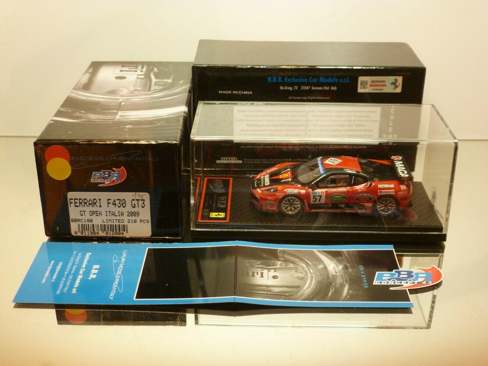 BBR MODELS FERRARI GT3 SCUDERIA - CHAMPION ITALIAN  GT'09 1 43 - EXCELLENT IN BOX  sortie de vente pas cher en ligne