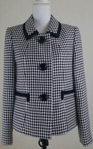KASPER-Women-039-s-Size-8-Black-Ivory-Blazer-Jacket-Career-Office-Wear-NWT-129-00