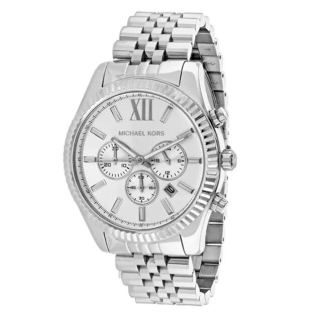 Michael Kors MK8405 Lexington Chronograph Silver Stainless Steel Men's Watch