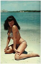 Vintage 1950s Oversized Postcard Pin Up Icon Bettie Page Bunny Yeager Photograph