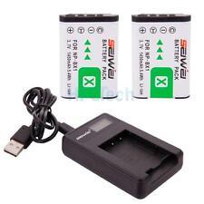 Battery Set for Sony CyberShot DSC RX100 II III HX50V WX300/ 2x NP-BX1 + Charger
