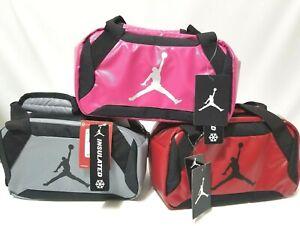 Nike-Jordan-Insulated-Soft-Mini-Duffel-Lunch-Bag-Tote-Red-Obsidian-Gray-Pink