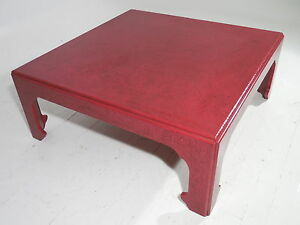 Image Is Loading Original Baker Asian Style Coffee Table Cinnabar Craquelure