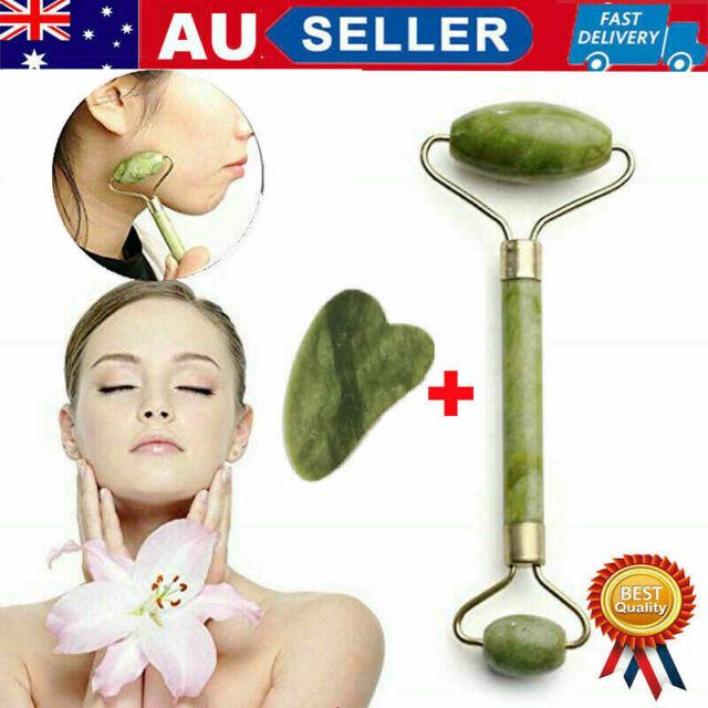 Natural Guasha Facial Jade Face Body Gua Sha Board Massager Tool Set
