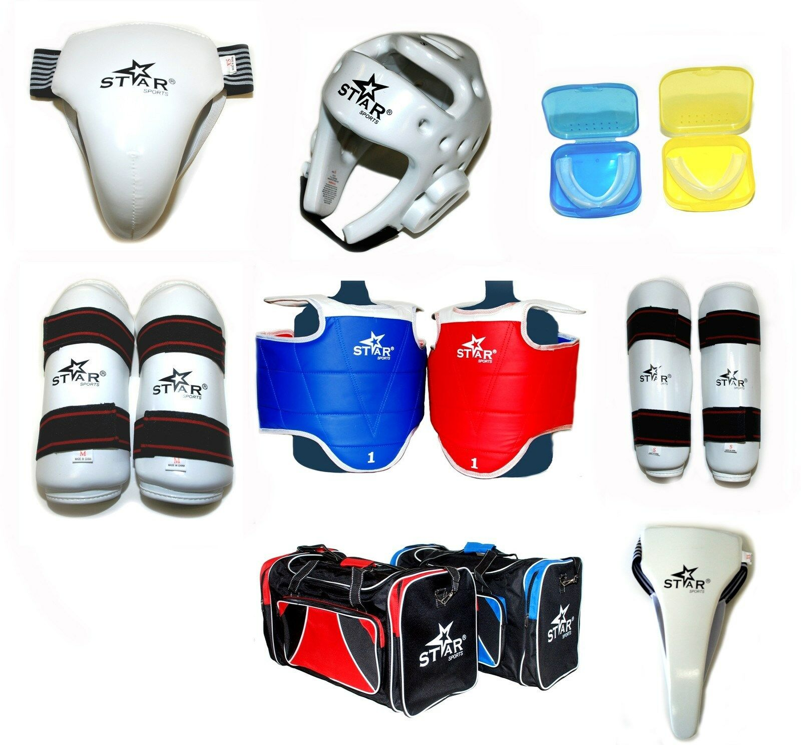Star Sports WTF Taekwondo  Sparring Gear Predectors Guards complete set 89 pcs  save 60% discount