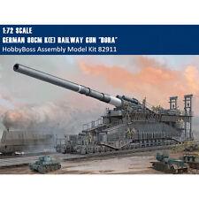 HobbyBoss 82911 1/72 Scale German 80cm K(E) Railway Gun Dora Assembly Model Kit