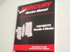 mercury verado service manual 90 897928100 135 150 175hp specs rh ebay com Mercury Verado 150XL 2006 mercury verado 150 service manual