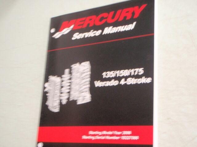 mercury verado service manual powerhead 90 897928400 135 150 175hp rh ebay com mercury verado service manual download mercury verado service manual download