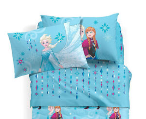 Copripiumino Una Piazza E Mezza Frozen.Complete Bedding Princesses Frozen Blue A Square And Half Disney