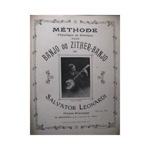 LEONARDI-Salvator-Method-Banjo-or-Zither-Banjo-1913-partition-sheet-music-score