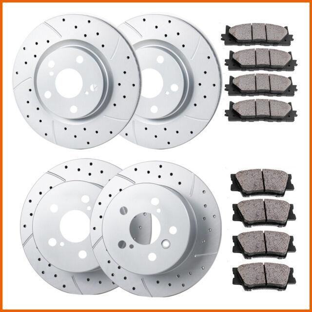 Fits: 2010 10 2011 11 Ford F-150 w// 6 Lugs Rotors Max Brakes Rear Premium Brake Kit KT021442 OE Series Rotors + Ceramic Pads