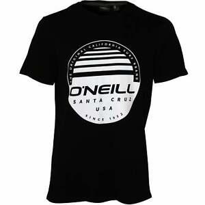 O'Neill Horizon Logo Herren Crew-Neck T-Shirt, Black Out