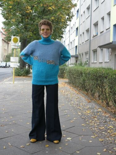 pull 80s Vintage donna roll Pullover True pullover strick tricot femme q40aIp