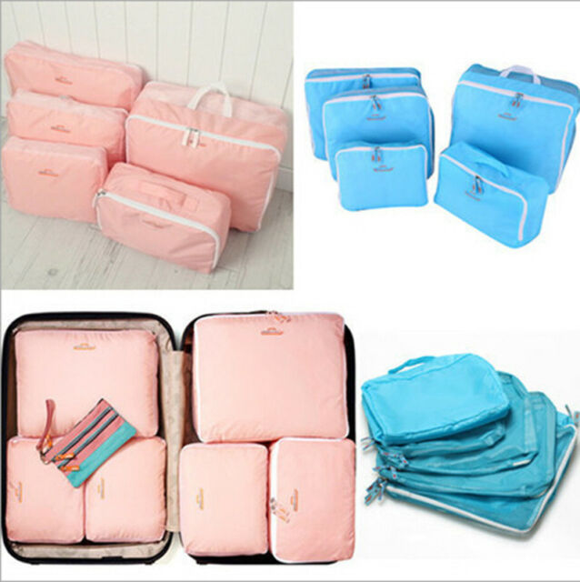 5x Travel Storage Luggage SuitcaseTidy Organizer Clothes Pouch Bag Case