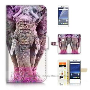 For-Optus-X-Sleek-Wallet-Case-Cover-P21109-Elephant