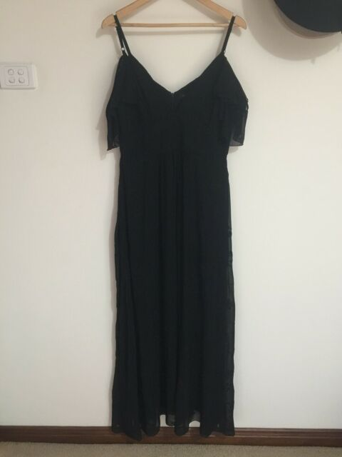 Forever New Black Lace Formal Dress Size 14