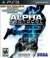 ALPHA PROTOCOL The Espionage RPG PS3 - LN - Game Disc Only
