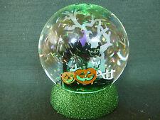 Hallmark Gift Bag Halloween Black Cat Graveyard Pumpkins Tree Snow Globe NEW