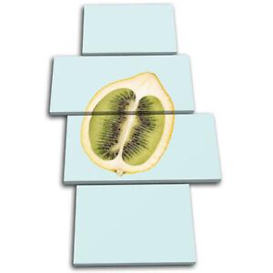 Lemon-Kiwi-Pop-Art-Concept-Food-Kitchen-MULTI-CANVAS-WALL-ART-Picture-Print