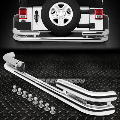 FOR 05-10 HONDA ODYSSEY STAINLESS STEEL DOUBLE LAYER REAR BUMPER TUBULAR GUARD